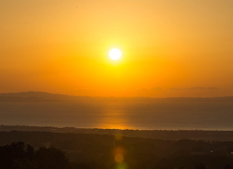 くろべ牧場 夕陽