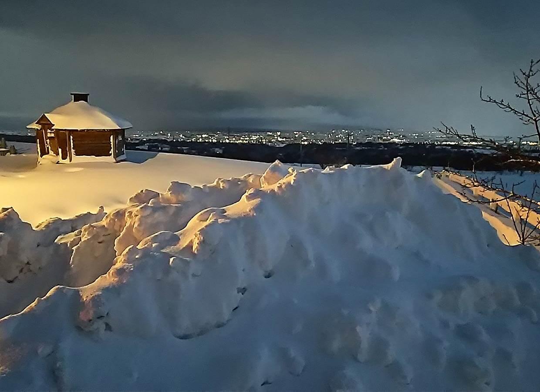 くろべ牧場 冬景色