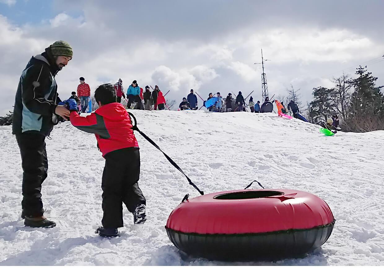 冬フェスの雪遊び